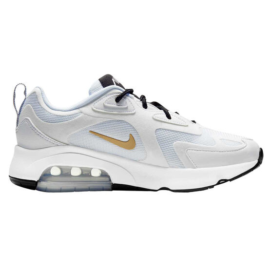 Nike Air Max 200 Womens Casual Shoes White / Gold US 6, White / Gold, rebel_hi-res