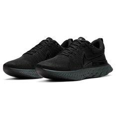 Nike React Infinity Run Flyknit 2 Mens Running Shoes, Black, rebel_hi-res