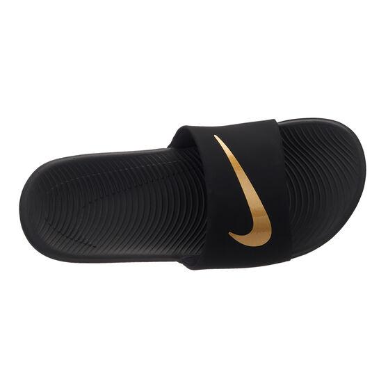 Nike Kawa Kids Slides Black / Gold US 6, Black / Gold, rebel_hi-res