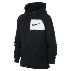 2f5bea6889 Nike Boys DriFIT Full Zip Hoodie Black / White XS, Black / White, ...