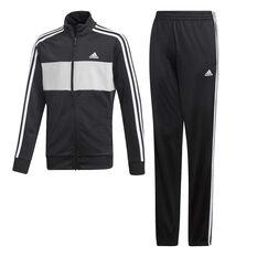 adidas Boys Tiberio Tracksuit Black / Grey 10, Black / Grey, rebel_hi-res