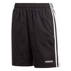 adidas Boys Essentials 3-Stripes Woven Shorts Black / White 6, Black / White, rebel_hi-res