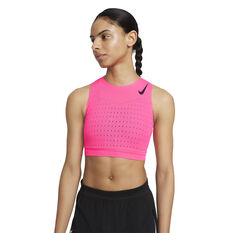 Nike Womens Dri-FIT AeroSwift Running Crop, Pink, rebel_hi-res