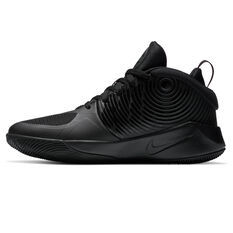 Nike Team Hustle D 9 Kids Basketball Shoes Black US 4, Black, rebel_hi-res