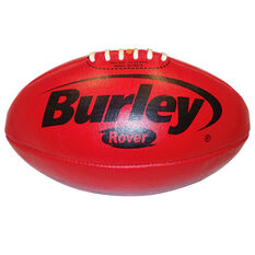 Burley Rover Leather Australian Rules Ball Red 2, Red, rebel_hi-res