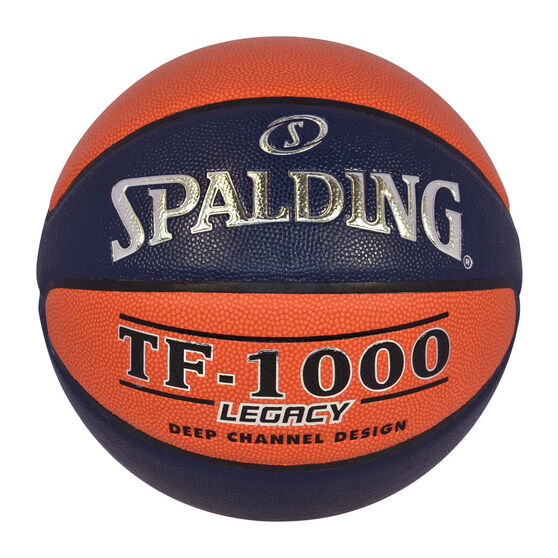 Spalding TF-1000 Big V Basketball, Orange / Navy, rebel_hi-res