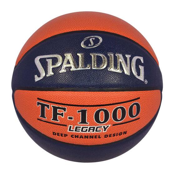 Spalding TF-1000 Big V Basketball, Orange / Navy, rebel_hi-res