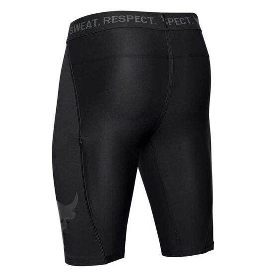 Under Armour Mens Project Rock Baselayer Shorts, Black, rebel_hi-res