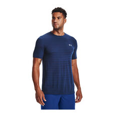 Under Armour Mens Seamless Fade Tee Blue S, Blue, rebel_hi-res