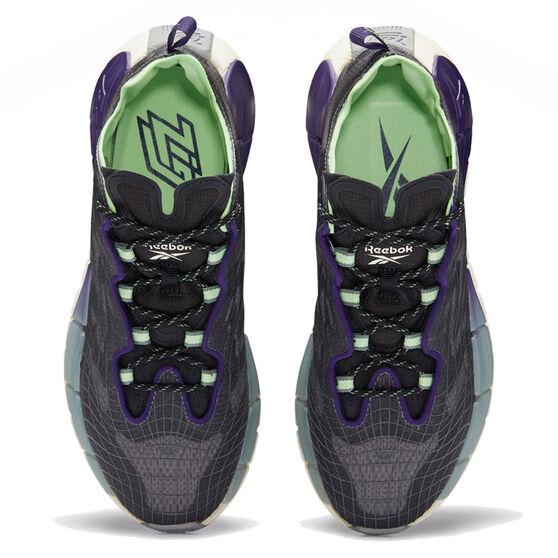 Reebok Zig Kinetica II Womens Casual Shoes, Black/Mint, rebel_hi-res