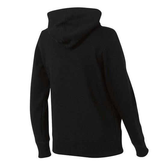 New Balance Womens Volume Fleece Full Zip Hoodie Black XS, Black, rebel_hi-res