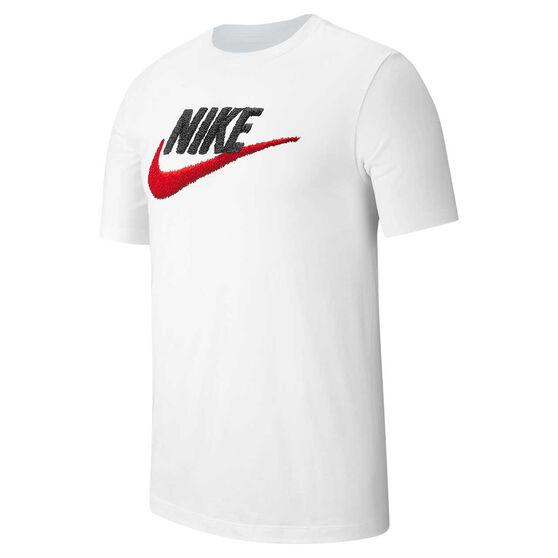 Nike Mens Sportswear Brandmark Tee, White, rebel_hi-res