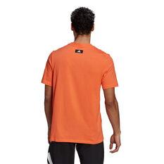 adidas Mens Future Icons Badge of Sport Tee, Orange, rebel_hi-res