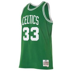 Mitchell and Ness Boston Celtics Larry Bird Mens Swingman Jersey, , rebel_hi-res