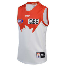 Sydney Swans 2020 Kids Away Guernsey White/Red 6, White/Red, rebel_hi-res