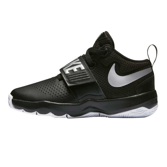 c640525fe825 Nike Team Hustle D 8 Junior Boys Basketball Shoes Black   Silver US ...