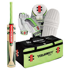 Gray Nicolls Velocity Strike Cricket Set White Youth Right Hand, White, rebel_hi-res