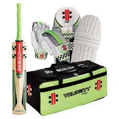 Gray Nicolls Velocity Strike Cricket Set White Youth Right Hand, White, rebel_hi-res