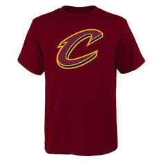 Cleveland Cavaliers Kids Primary Logo Tee Maroon S, Maroon, rebel_hi-res