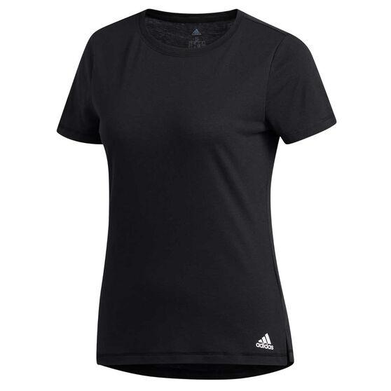 adidas Womens Prime Tee, Black, rebel_hi-res