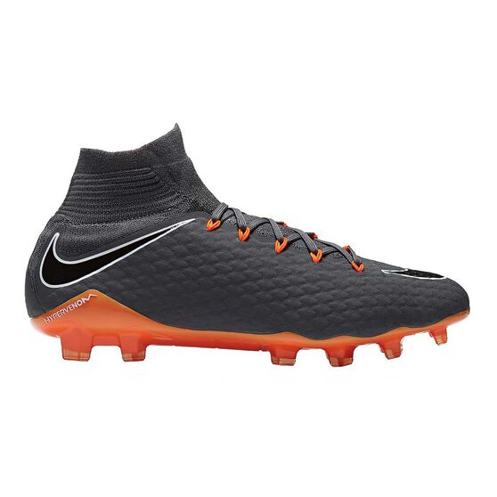 Nike Hypervenom Phantom III Pro Dynamic Fit Mens Football Boots, Grey / Orange, rebel_hi-res