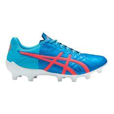 Asics Lethal Tigreor IT FF Mens Football Boots Blue / Coral US 8 Adult, Blue / Coral, rebel_hi-res