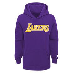 Los Angeles Lakers 2021 Kids Statement Hoodie Purple S, Purple, rebel_hi-res