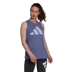 adidas Womens Winners 2.0 Tank Purple XS, Purple, rebel_hi-res