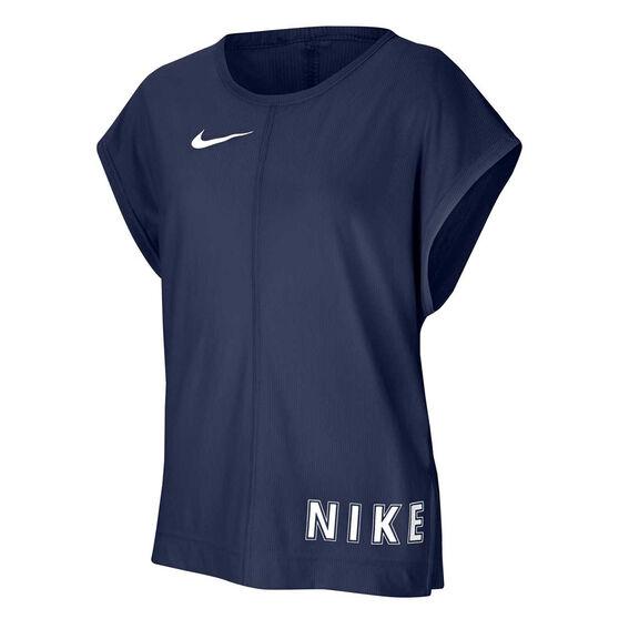 Nike Girls Training Tee, Navy, rebel_hi-res