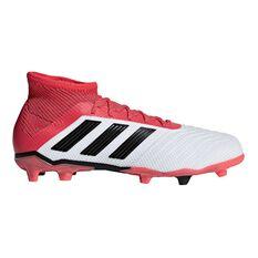 adidas Predator 18.1 FG Junior Football Boots White / Black US 11 Junior, White / Black, rebel_hi-res