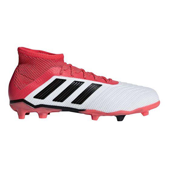 7e83c6c0967 adidas Predator 18.1 FG Junior Football Boots White   Black US 13 Junior