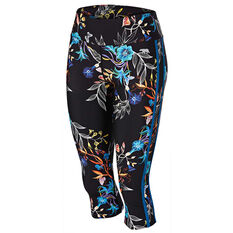 Running Bare Womens Ab Waisted Wild West 3 / 4 Tights Print 8, Print, rebel_hi-res