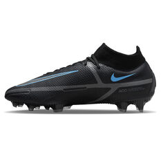 Nike Phantom GT2 Elite Football Boots Black/Grey US Mens 4 / Womens 5.5, Black/Grey, rebel_hi-res