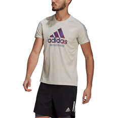 Adidas Mens Run for the Oceans Graphic Tee White S, White, rebel_hi-res