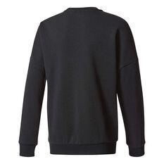 adidas Boys Essentials Big Logo Crew Sweater Black / White 6, Black / White, rebel_hi-res