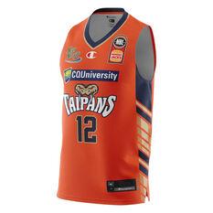 Cairns Taipans Kouat Noi 20/21 Mens Home Jersey Orange XS, Orange, rebel_hi-res
