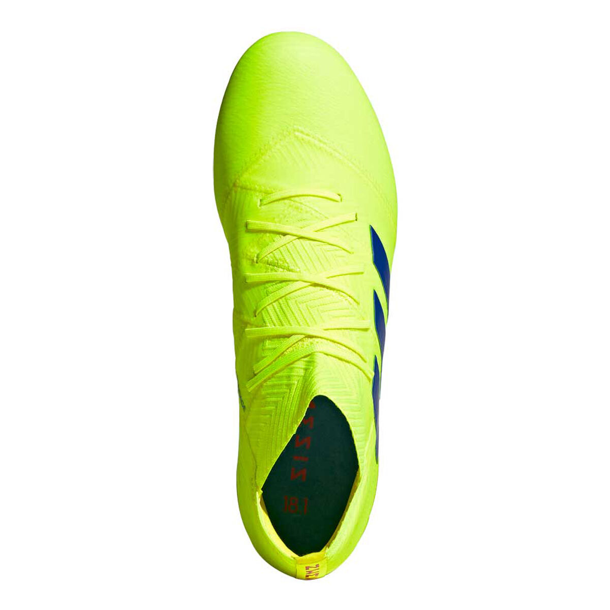 adidas Nemeziz 18.1 Mens Football Boots Yellow Blue US Mens 12 Womens 13
