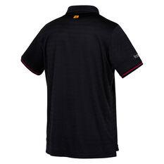 Brisbane Broncos 2021 Mens Media Polo Black S, Black, rebel_hi-res
