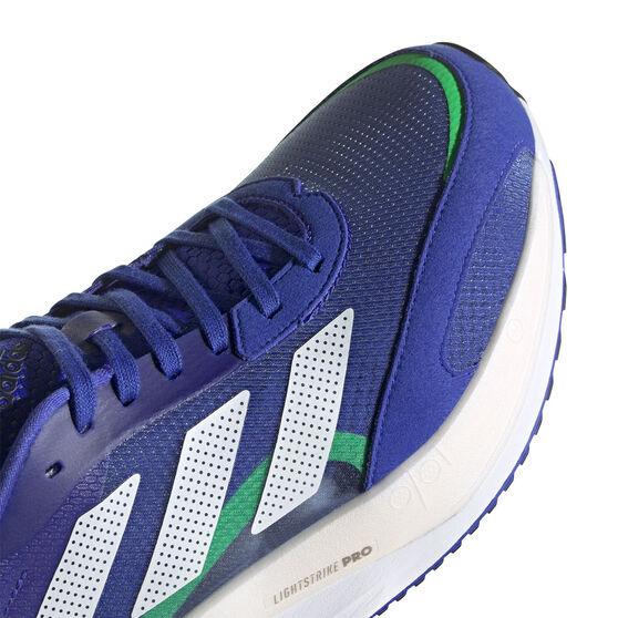 adidas Adizero Boston 10 Mens Running Shoes, Blue/White, rebel_hi-res