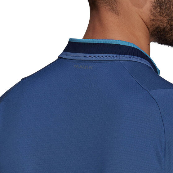 adidas Mens Primeblue Tennis Polo, Blue, rebel_hi-res