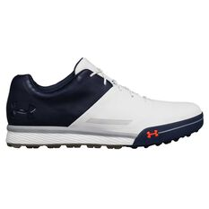 Under Armour Tempo Hybrid 2 Mens Golf Shoes White US 8, White, rebel_hi-res