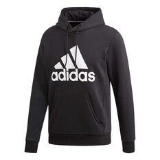 215b83af adidas Mens Must Haves Badge of Sport Fleece Pullover Hoodie Black / White S,  Black