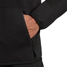 adidas Mens Z.N.E Full Zip Hoodie Black XS, Black, rebel_hi-res