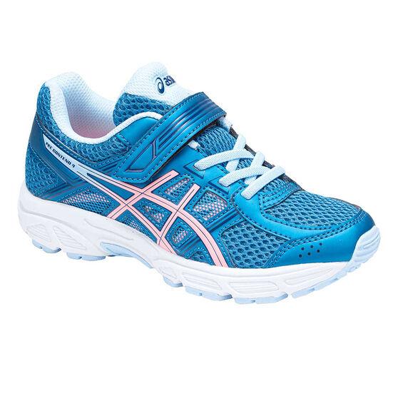 Asics Gel Contend 4 Kids Running Shoes Blue / Pink US 11, Blue / Pink, rebel_hi-res