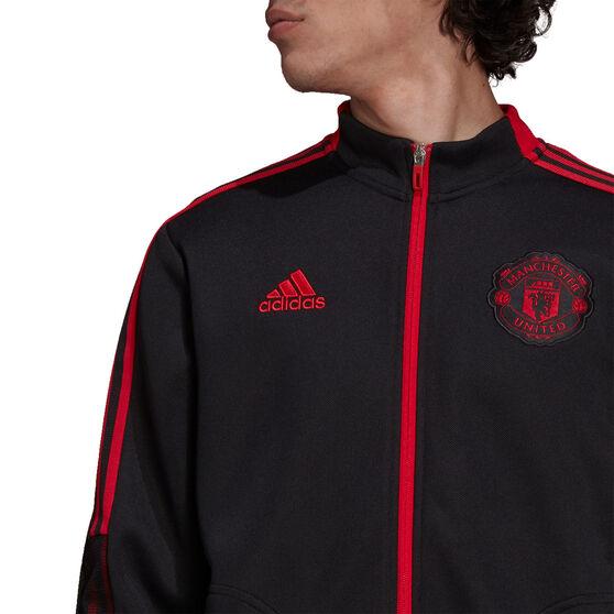 Manchester United 2021/22 Mens Anthem Jacket Black S, Black, rebel_hi-res