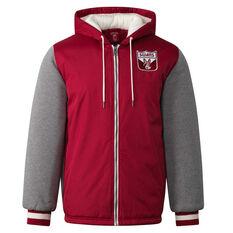 Sydney Swans Mens Sideline Jacket Red S, Red, rebel_hi-res