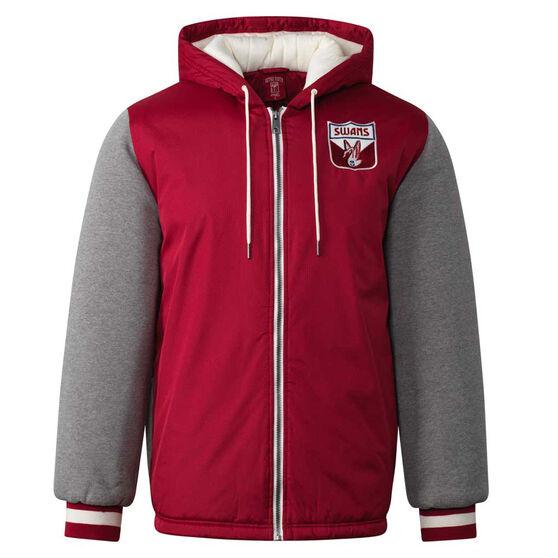 Sydney Swans Mens Sideline Jacket, Red, rebel_hi-res