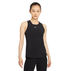 Nike Womens Dri-FIT One Luxe Standard Tank Black XS, Black, rebel_hi-res