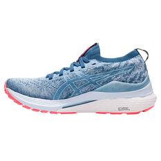 Asics GEL Kayano 28 Knit Womens Running Shoes Blue US 6, Blue, rebel_hi-res