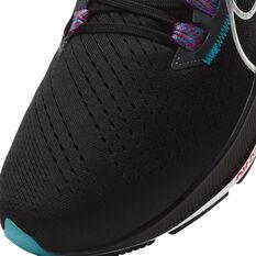 Nike Air Zoom Pegasus 38 Mens Running Shoes, Black/Silver, rebel_hi-res